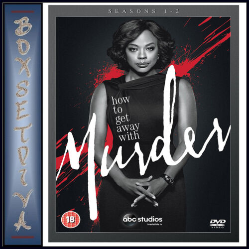 HOW TO GET AWAY WITH MURDER - COMPLETE SEASONS 1 & 2 BOXSET  **BRAND NEW DVD*