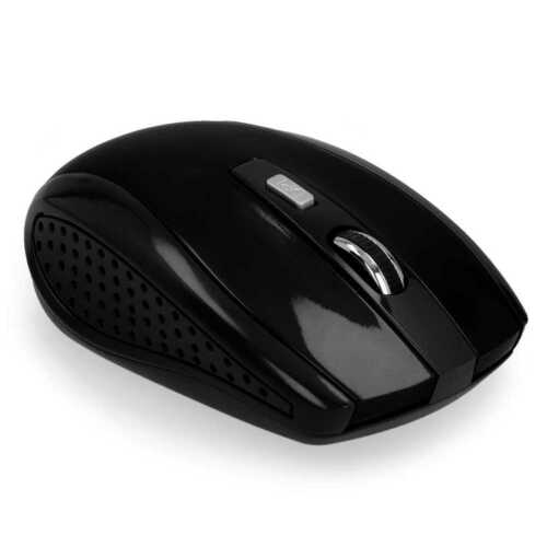 Mouse Ottico Senza Fili Wireless USB 1600 DPI 2.4G per Notebook PC Computer Nero