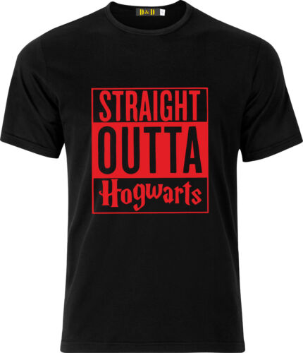 STRAIGHT OUTTA HOGWARTS FUNNY HUMOR CHRISTMAS  GIFT COTTON T SHIRT