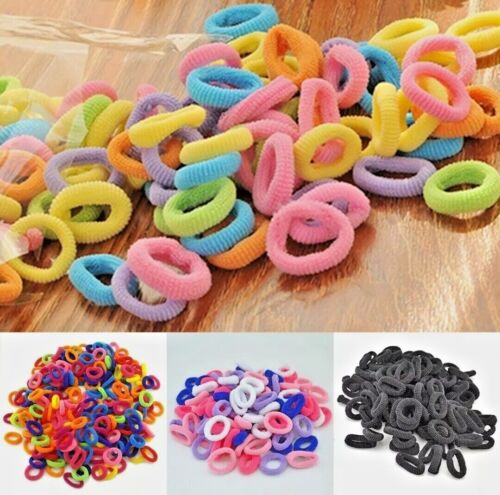 20/50 BABY SIZE Elastic Hair Ties Soft No Pull Spandex Ponytail Holder see note