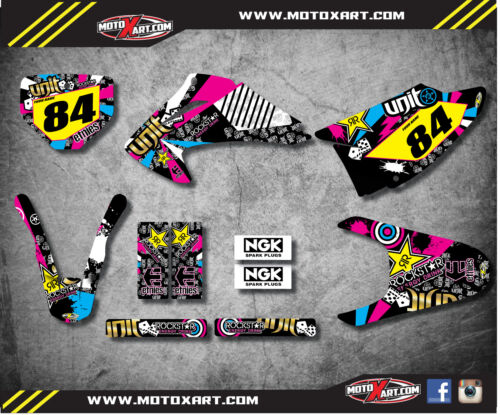 stickers Honda CRF 150 F 2008-2014 Custom Graphic kit RUSH style decals