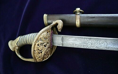 AMERICAN CIVIL WAR HIGH GRADE M 1850 STAFF & FIELD OGFFICER SWORD WITH EAGLE Edged Weapons - 36037