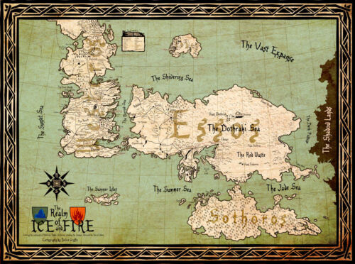 """Game of Thrones ( 11"""" x 15"""" ) Map Collector's Poster Print (T5) - B2G1F"""