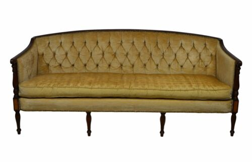 Mahogany Hickory Chair James River Collection Federal Sheraton Style Sofa Couch