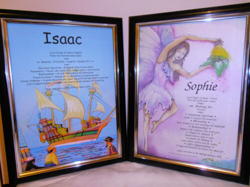NAME MEANING SCROLL BABY BOYS/GIRLS CHRISTENING, NAMING DAY *FREE PRIORITY POST*