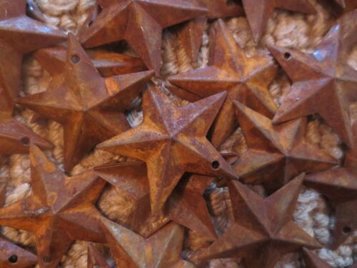 Lot of 100 Rusty Barn Stars 1.5 inch Rustic Primitive Country Rusted Dimensional