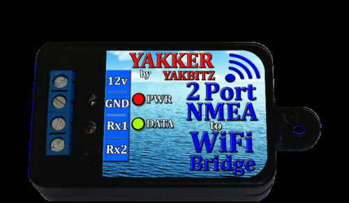 NMEA to WiFi BRIDGE 2 Port Multiplexer