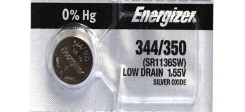 1 Energizer 344 / 350 SR1136SW Watch Battery