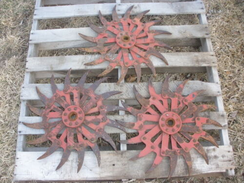 (3) IH Rotary Hoe Wheel Flower Yard Garden Art Decor SteamPunk 20""