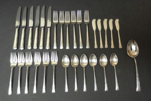"31- PC. GORHAM ""GREENBRIER"" STERLING SILVER FLATWARE, SERVICE for 6, 1245 grams"
