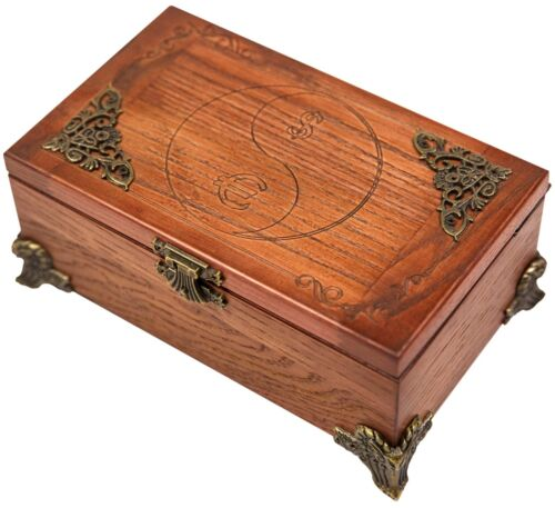 EXCLUSIVE HANDMADE CARVED RECTANGLE WOODEN STORAGE MONEY BOX  FINE ASH-TREE WOOD