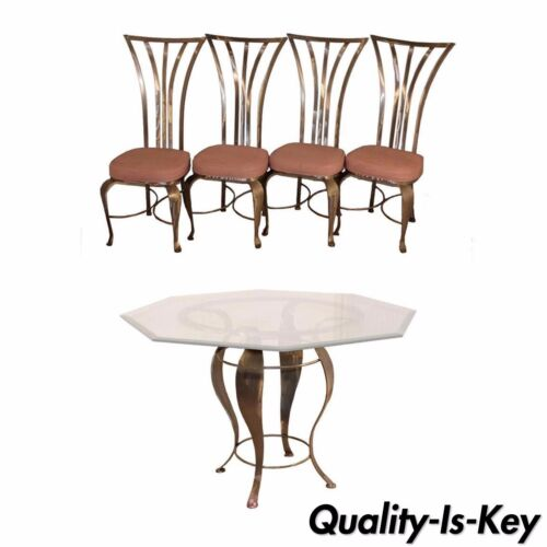 Mid Century Modern Shaver Howard Steel Dining Set Table 4 Chairs Arthur Umanoff