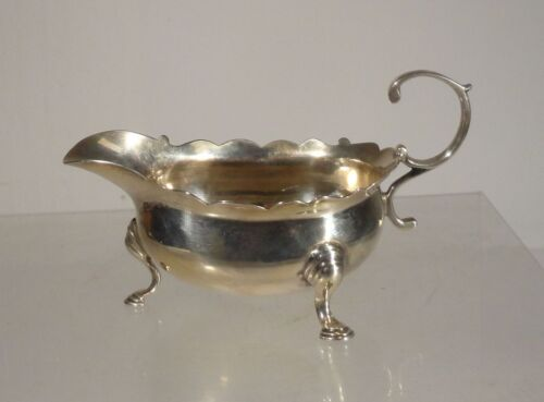 Antique English Georgian George II Sterling Silver Creamer London Sauceboat