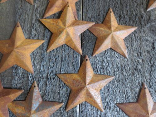 Lot of 50 Rusty Barn Stars 2.25 inch Rustic Primitive Country Rusted Dimensional