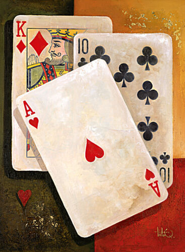 Ace of Hearts Cards  Print on Paper & Canvas Giclee Poster