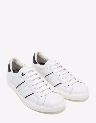 New Moncler New Gourette White Leather Trainers RRP £310 BNWT