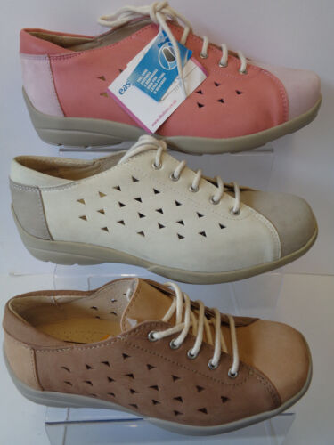 Ladies Lace Up Leather Cut Out Easy B Shoes Arlene