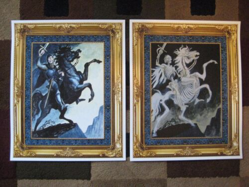 "Vintage Disney ( Haunted Mansion - Rider ) 11""x 13.5"" Collector's Poster Prints"