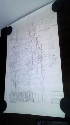 Vintage 1941 Land Acquisition Map Columbus Indiana Camp Site Bart Brown Johnson