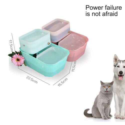 Safe Automatic Cat Dog Water Drinking Fountains Pet Water Bowl