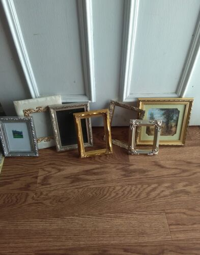 Lot of 7 small ornate Italian style  picture frames