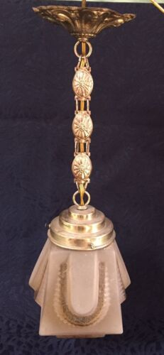 Fine Art Nouveau Glass Lamp french 1900 parisian antique deco skyscraper empire