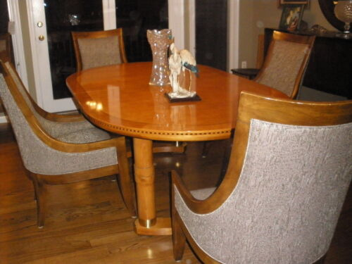Biedermeier style dining banded inlaid table 2 extentions