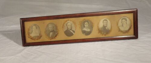 Antique Family Tree Photographs Prints Mourning Civil War Genealogy Americana