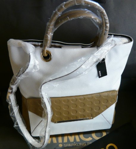 MIMCO ORIGAMI TOTE BAG in BIRCH LEATHER SPACIOUS + DUSTBAG rrp $499 SALE $259.50