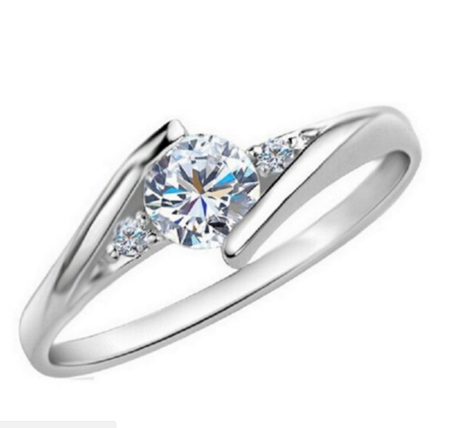 Micro-inlay 0.5 Ct CZ 925 Sterling Silver Engagement Wedding Party Ring SZ 7-9.5