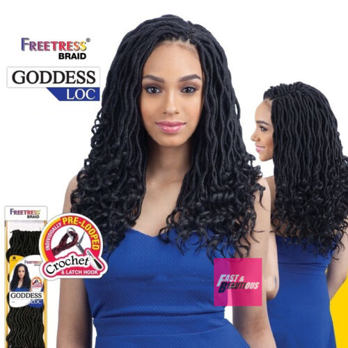 "GODDESS LOC 14"" - FREETRESS SYNTEHTIC CROCHET PRE-LOOPED BRAID"