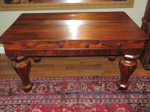 Antique Large Rosewood Spinet Desk