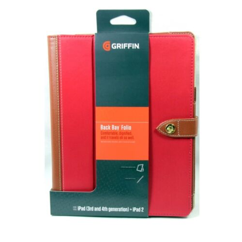GRIFFIN CASE FOR IPAD 4 3 2 FOLIO BACKBAY COVER STYLUS LOOP STAND RED GB36259