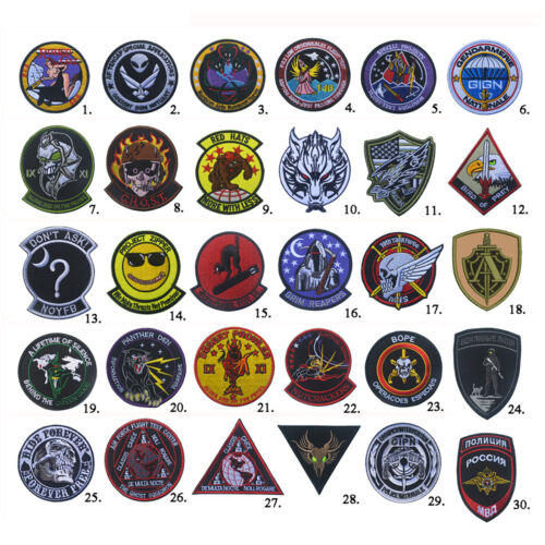 USAF Air Force Black Ops Area Tactical Morale Army Airsoft Hook Loop Patch BadgeArmy - 48824