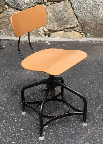 Vintage Modern Toledo Metal Furniture Co. Swivel Art / Drafting Stool