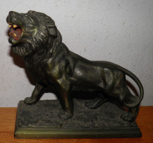 """Antique Austrian Cold Painted Vienna Bronze Angry Lion 5+lbs 4.5x8x10"""" $50 OFF!!"""