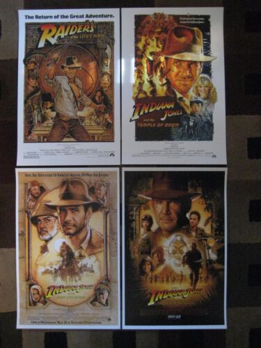 "Indiana Jones (11"" x 17"") Movie Collector's Poster Prints ( Set of 4 )"