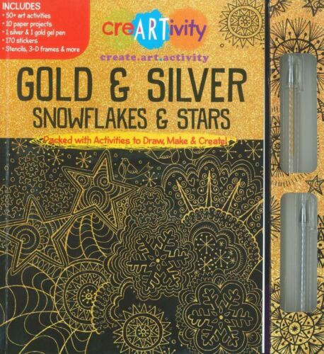 Gold and Silver snowflakes & stars Creativity Activity Dent on boxes