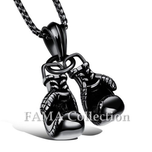 FAMA 316L Stainless Steel Boxing Gloves Pendant Necklace Colour Select