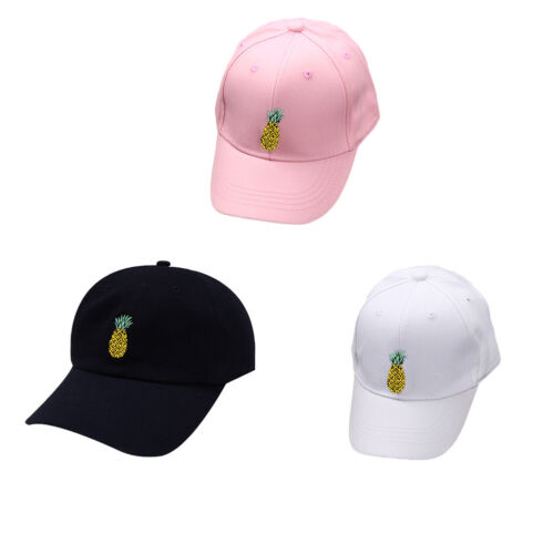 Pineapple Dad Hat Baseball Cap Casquette Adjustable Fruit Style Sun Block Style