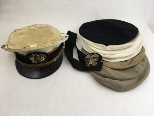 WW2 WWII Navy Lieutenant Medical Corps Officer Cap Navair-Flex Berkshire TagsUniforms - 104001
