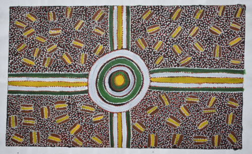 Warrina Designs Australian Aboriginal Art indigenous Painting Canvas Dot Utopia