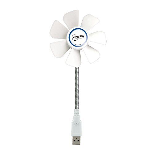 ARCTIC Breeze Mobile - Mini USB Desktop Fan with Flexible Neck and Adjustable Fa