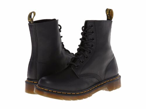 Women's Shoes Dr. Martens Pascal 8 Eye Boots 13512006 Black Virginia *New*