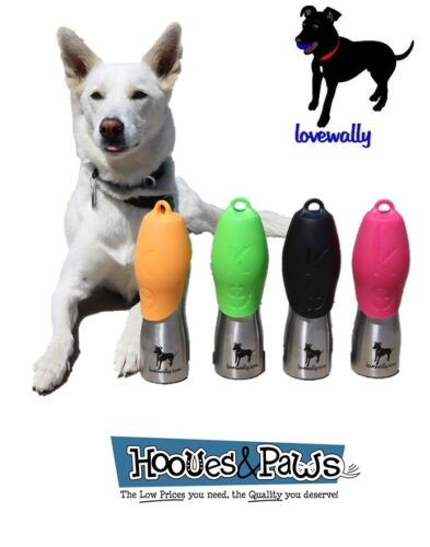 Dog Water Bottle 25 oz Stainless Steel Dish LoveWally Authentic USA Seller