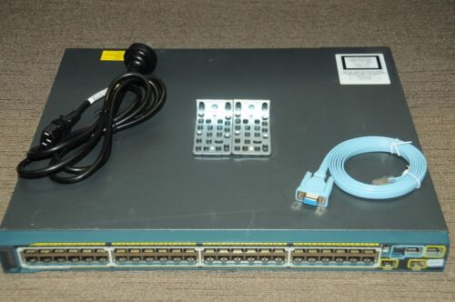 Cisco WS-C2960S-48LPD-L Stack-able Switch 48port GigE PoE 2 10G SFP with Racks