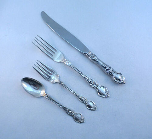 VIOLET- WALLACE STERLING 4PC DINNER PLACE SETTING