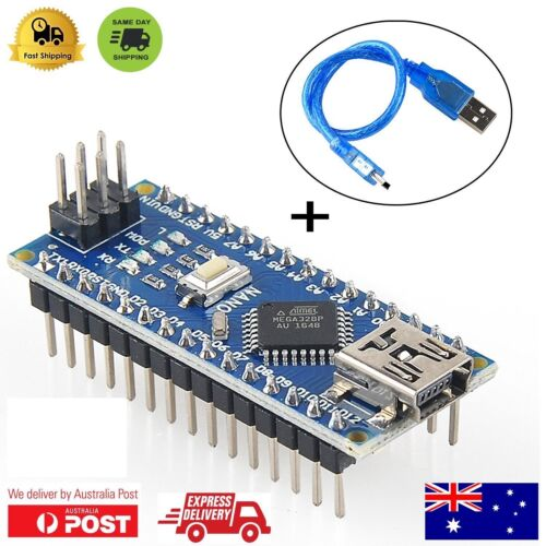 Latest Arduino Compatible Nano V3.0 ATMEGA328P  + USB Cable with soldered pins
