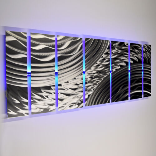 Color Changing LED Modern Abstract Metal Wall Art Sculpture Painting Decor RGB <br/> Custom LED Lighting & Remote Control