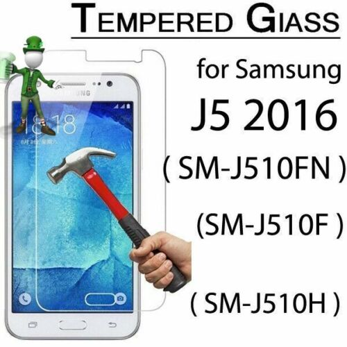 2 x  Genuine Tempered Glass 9H Screen Protector For Samsung Galaxy J5 (2016)